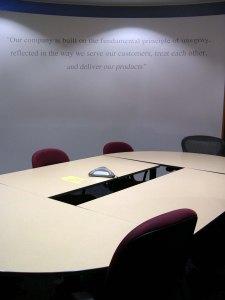 Custom ordered boardroom WallScript